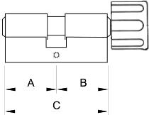 Wkładka gałka / klucz